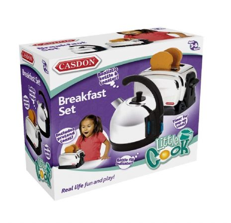 Casdon - BREAKFAST SET - Realistic Role Play - Popping Toaster - NEW